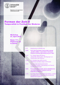 Workshop Formen der Zeit
