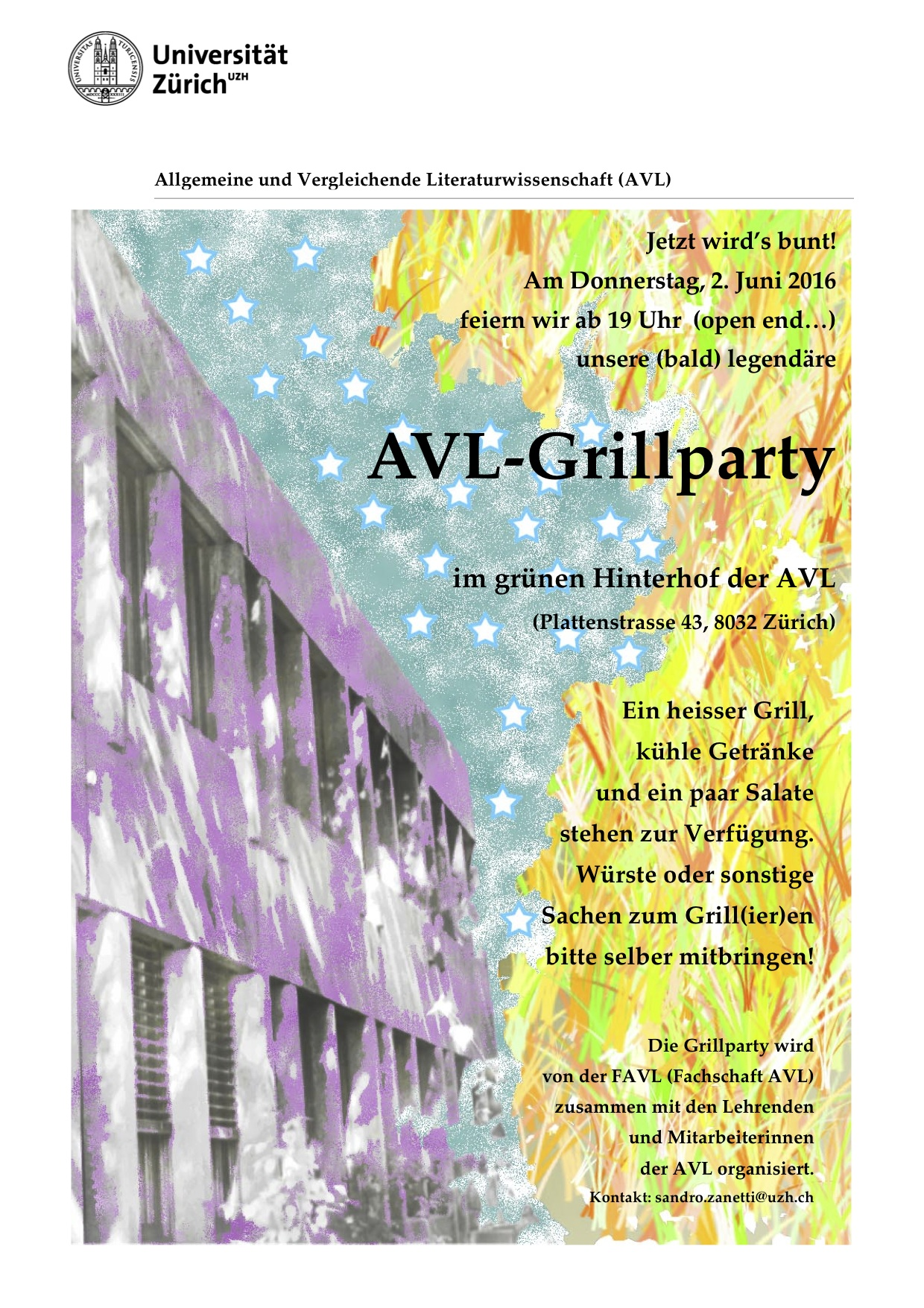 Grillparty Flyer